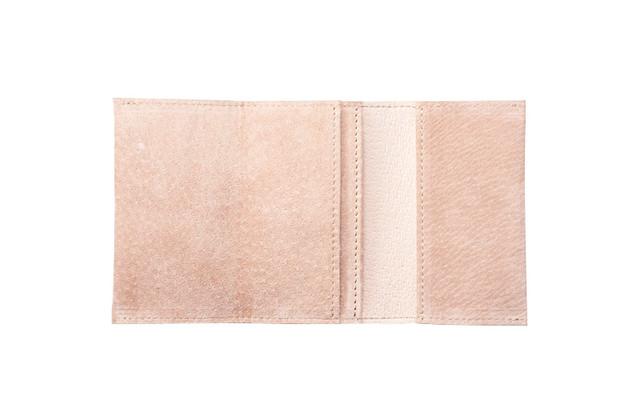 watote(ワトテ)洗える豚革の薄い財布-アプリコット