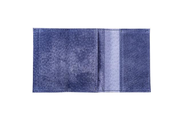 watote(ワトテ)洗える豚革の薄い財布-ネイビー