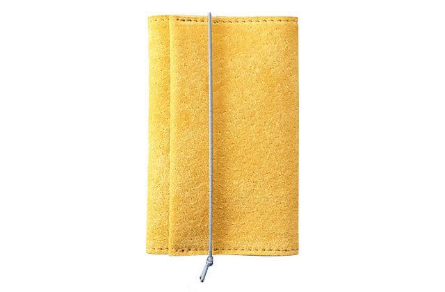 watote(ワトテ)洗える豚革の薄い財布-イエロー