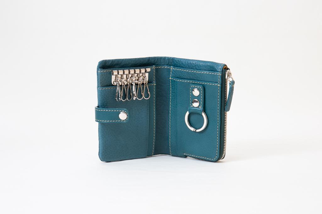 キーケース付きミニ財布-中