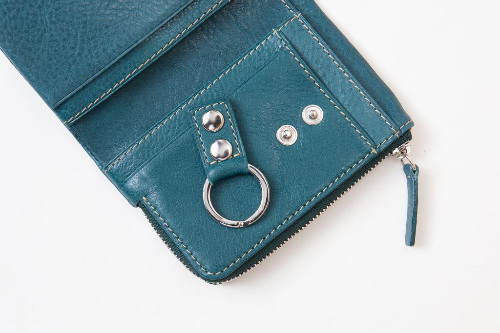 キーケース付きミニ財布-リング